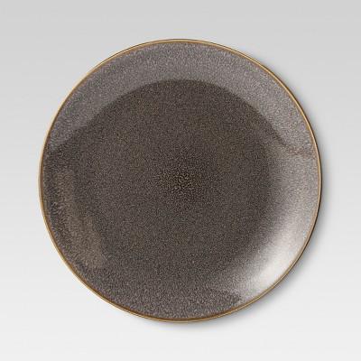 Belmont Glazed Stoneware Dinner Plates (10.75 )Gray - Set of 4 - Threshold™