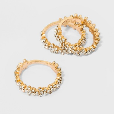 Crystal Floral Bands 3pc - A New Day™ Gold