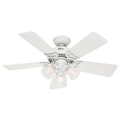 Southern Breeze Lighted Ceiling Fan White - Hunter Fan
