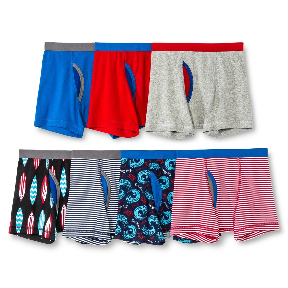 Boys' Surf Boxer Briefs 7pk - Circo Red M (8-10), Size: M(8-10), Red Pop
