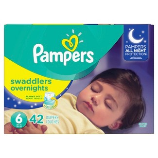 Pampers Swaddlers Overnight Diapers - Size 6 (42ct)