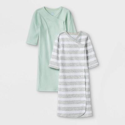 Baby Boys' 2pk 'ABC' Nightgown - Cloud Island™ Mint Preemie