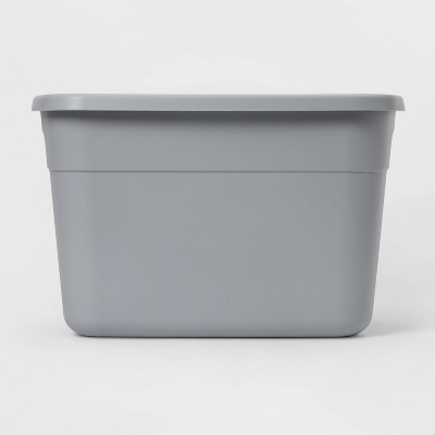 18gal Tote Cement Gray - Room Essentials™