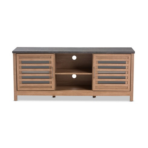 Pacific Modern And Contemporary Two Tone Finished 59 Tv Stand Gray