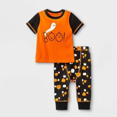 Baby Boys' 2pc 'BOO' Top & Bottom Set - Cat & Jack™ Orange