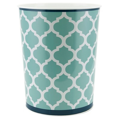 Watery Floral Wastebasket Blue - Allure®