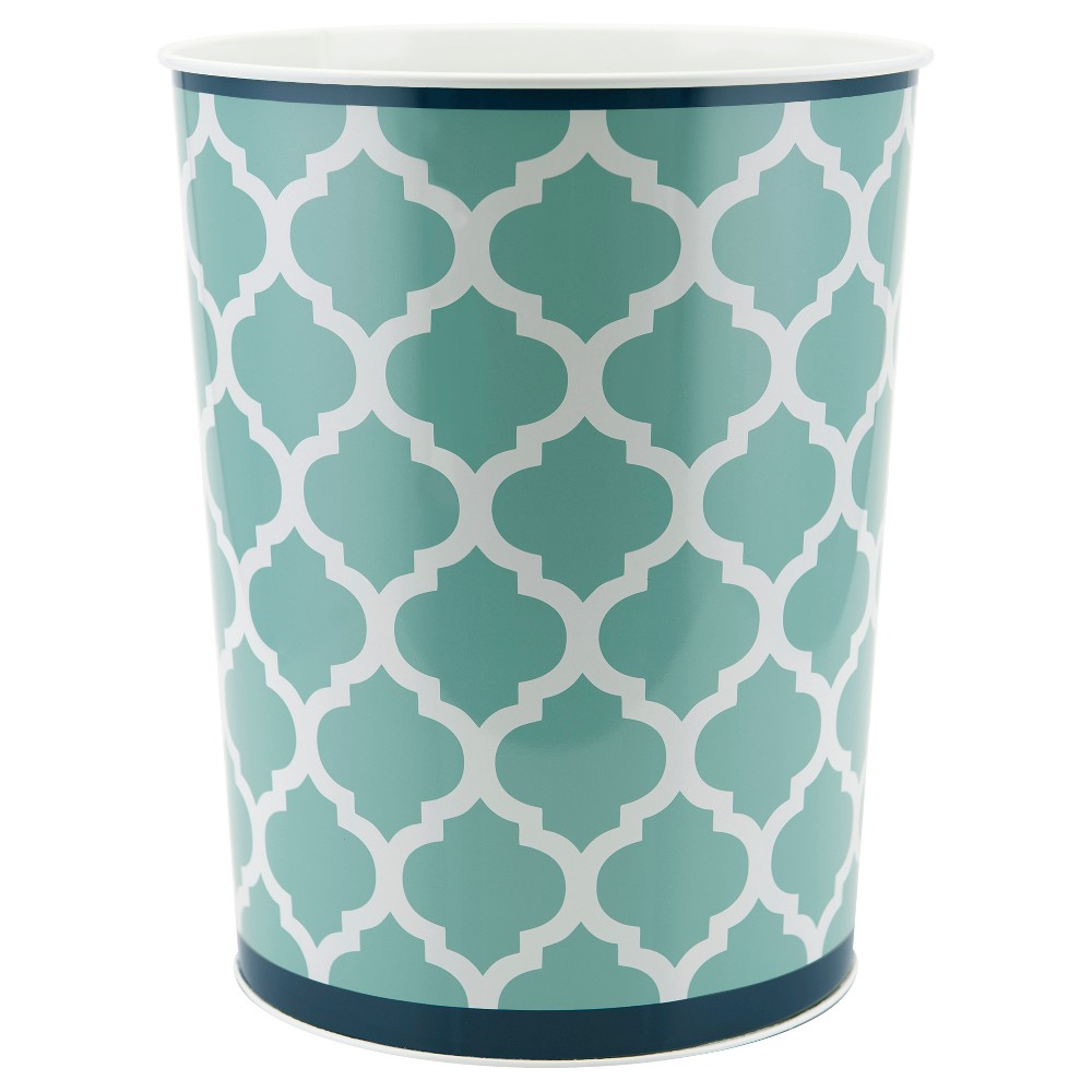 Image of Watery Floral Wastebasket Blue - Allure