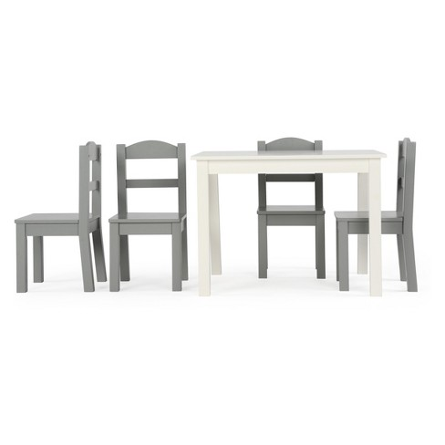 45baf03a146 Tot Tutors Set Of 4 Chairs With Springfield Kids Wood Table Gray   Target