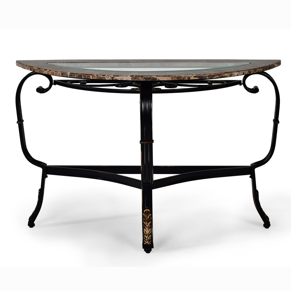 Gallinari Sofa Table Marble Glass and Metal - Steve Silver