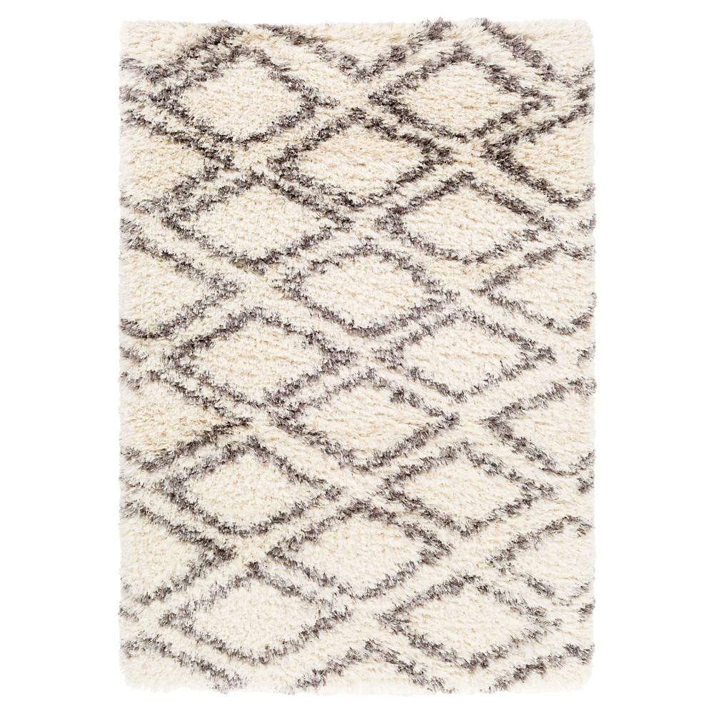 Abstract Tufted Area Rug Cream/Gray (Ivory/Gray) 9'X12' - Surya