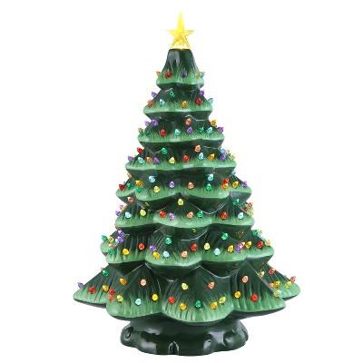 "Mr. Christmas Nostalgic Ceramic Starry Light LED Christmas Tree - 18"""