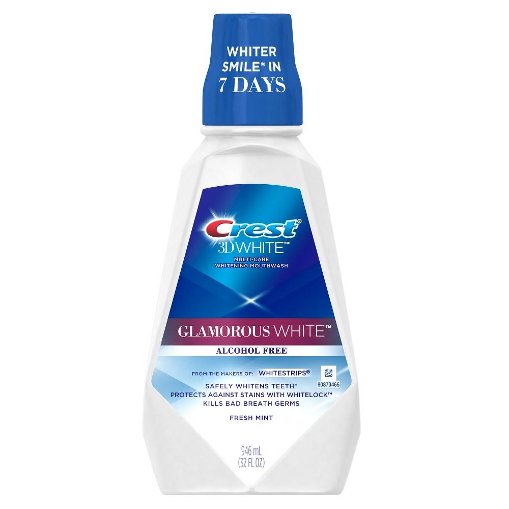 Crest 3D White Glamorous White Alcohol Free Mouthwash - 946ml