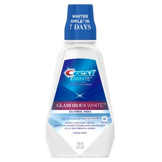 Crest 3D White Glamorous White Alcohol Free Multi-Care Whitening Mouthwash Fresh Mint - 32 Fl Oz : Target