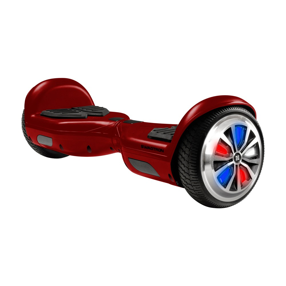 Swagtron Metro Hoverboard with Led Wheels - Red