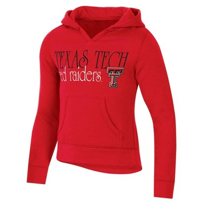NCAA Texas Tech Red Raiders Girls' Split Neck Hoodie