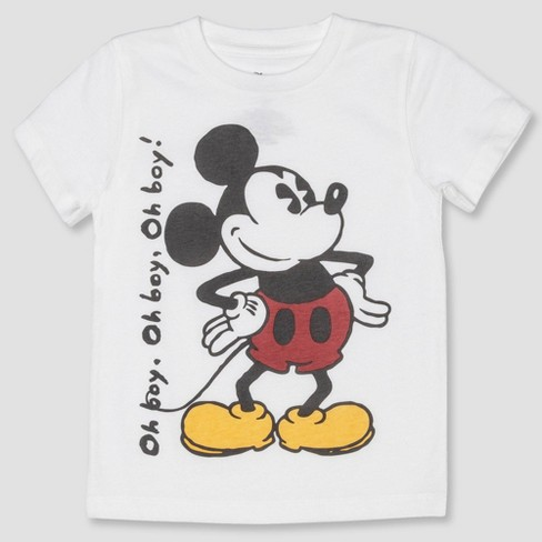 Toddler Boys' Mickey Mouse Short Sleeve T-Shirt - White - image 1 of 2