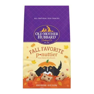 Old Mother Hubbard Fall Favorite Peanut Butter Dog Treats - 16oz