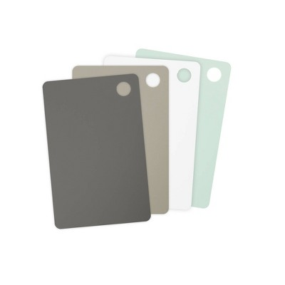 Tovolo Elements Small Flexible Cutting Mats Set of 4 61-33597 - Grays