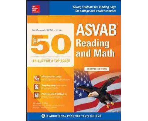 McGraw-Hill Education Top 50 Skills for a Top Score : ASVAB Reading and Math (Paperback) (Janet E. Wall) - image 1 of 1