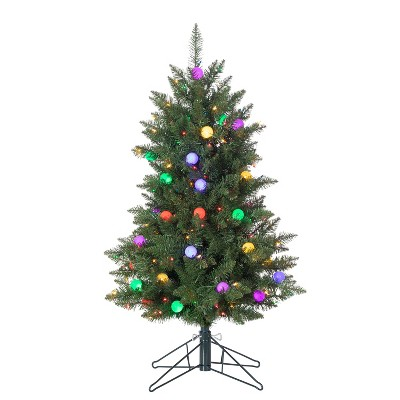 Sterling  4Ft. Pre-Lit Derby Pine with 200 Multi-colored incandescent lights and 35 G40 Multi-Colored LED Plastic Bulbs