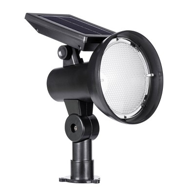 Solar Spot Light with Kelvin Selector Black - Sterno Home