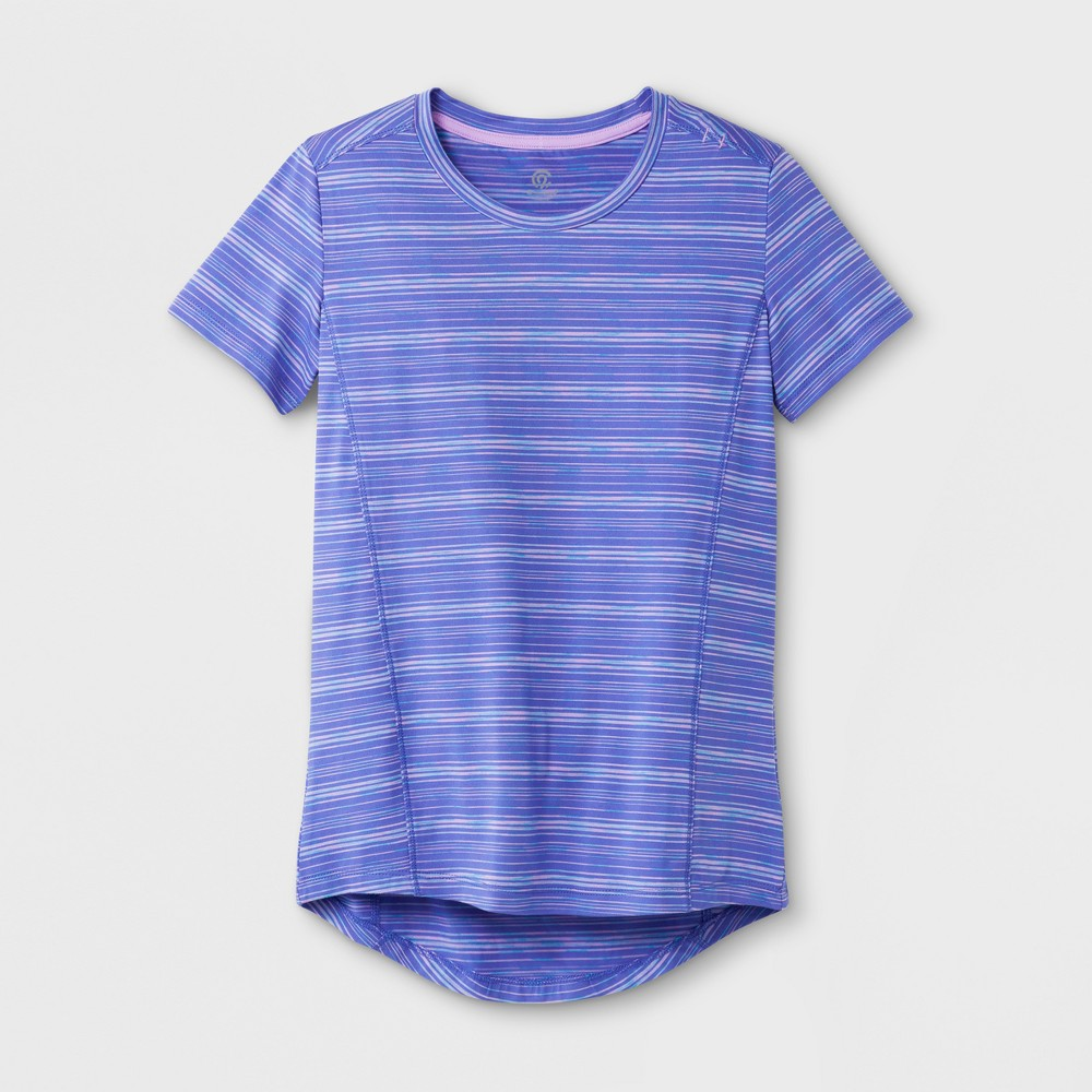 Girls' Super Soft Tech T-Shirt - C9 Champion Lavender/Blue S, Purple