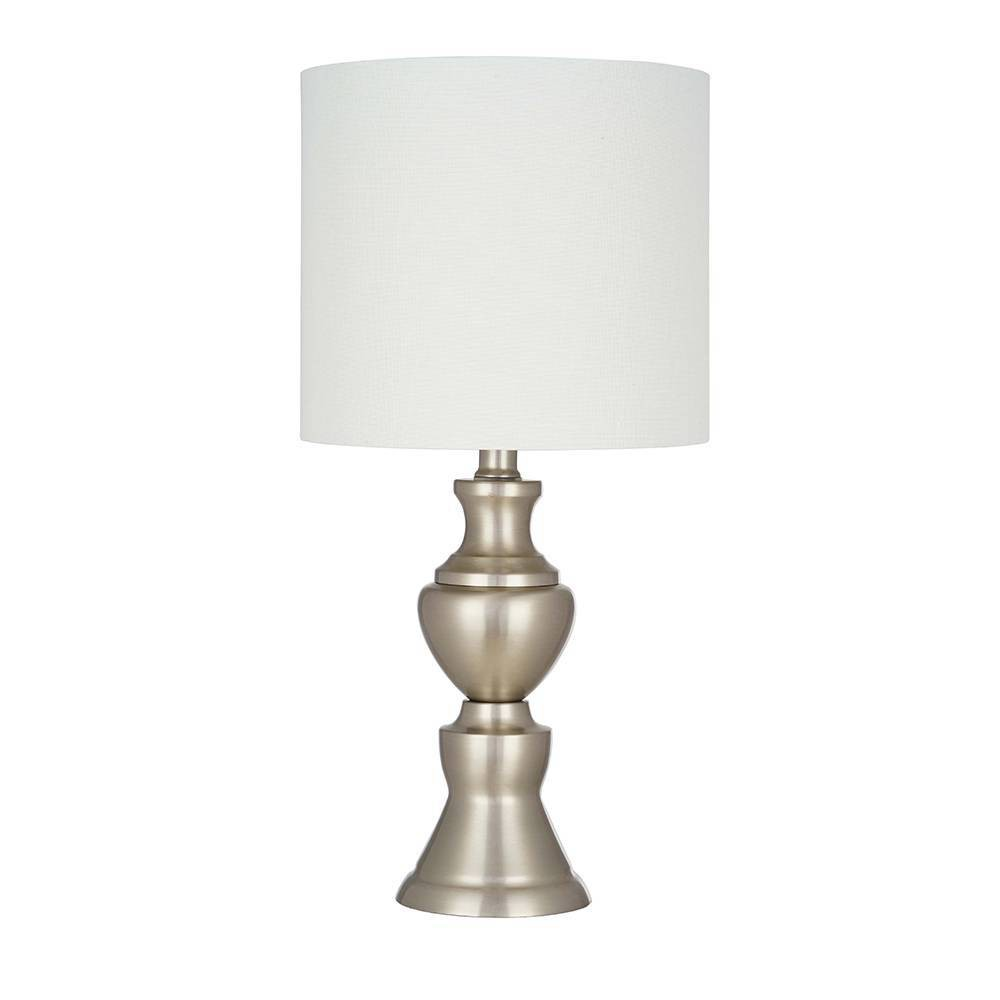 "Image of ""19"""" Metal Accent Lamp Nickel - Cresswell Lighting"""