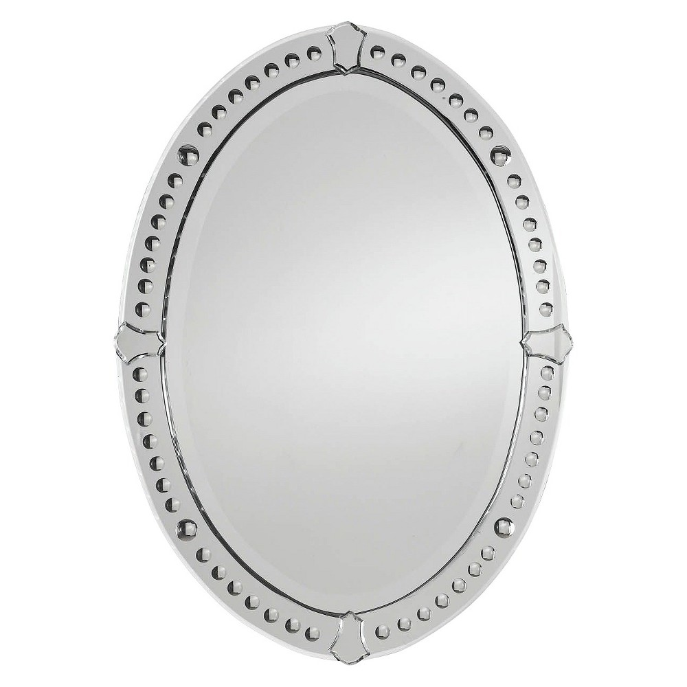 Oval Graziano Frameless Decorative Wall Mirror - Uttermost, Clear