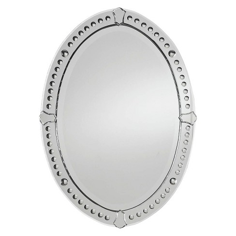Oval Graziano Frameless Decorative Wall Mirror - Uttermost - image 1 of 2