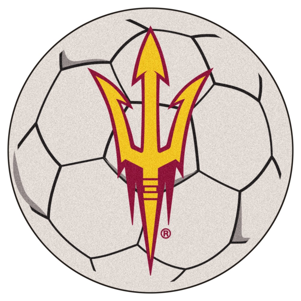 NCAA 27 Soccer Ball Mat Arizona State Sun Devils