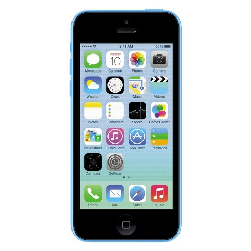Apple iPhone 5c Certified Pre-Owned (GSM Unlocked) 32GB Smartphone - Blue - image 1 of 1