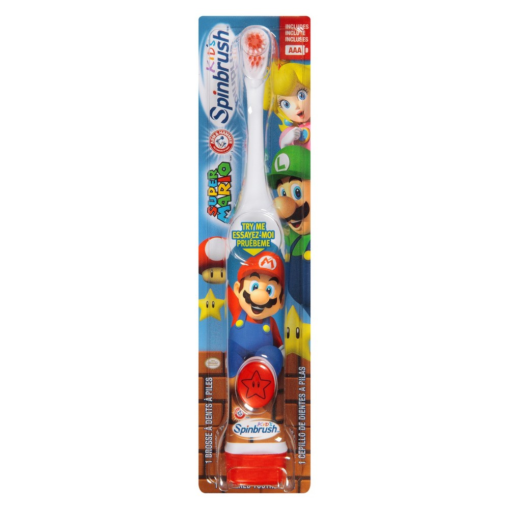 Arm & Hammer Spinbrush Kids Super Mario Battery Toothbrush