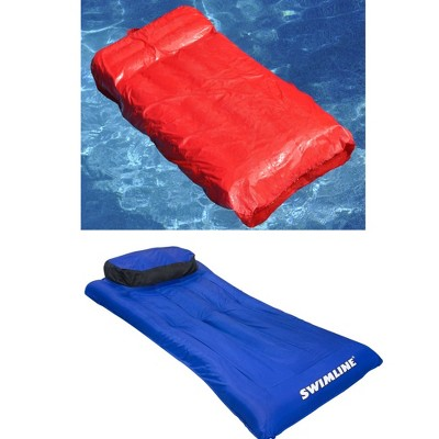 Swimline Solstice Pool Inflatable Fabric Lounger & Fabric Covered Air Mattress