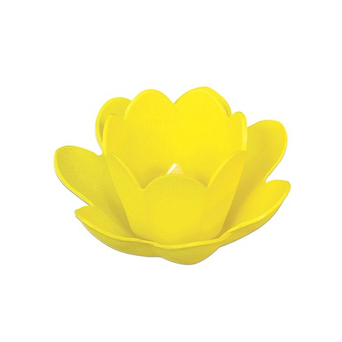 """Pool Master Floating Blossom Light with Votive Candle for Pool and Patio 8.5"""" - Yellow - image 1 of 1"""