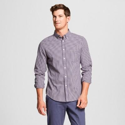 Men's Slim Fit Northrop Long Sleeve Button-Down Shirt - Goodfellow & Co™ Dusk Pink M