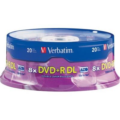 20pk dvd+r 8.5gb dl 8x spindle