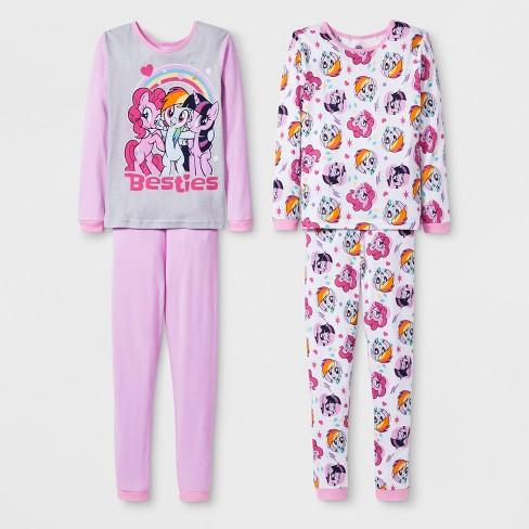 ba8a1f7dc Girls  My Little Pony 4pc Pajama Set - Pink   Target