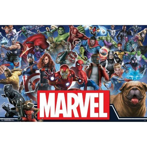 """34""""x23"""" Marvel Universe Heroes Unframed Wall Poster Print - Trends International - image 1 of 2"""