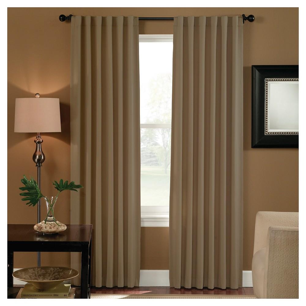 Curtainworks Saville Back Tab Room Darkening Curtain Panel - Linen (95)