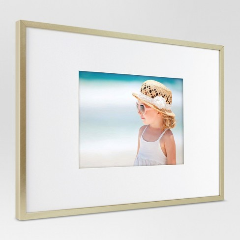 Metal Frame Brass Matted Photo Project 62 Target