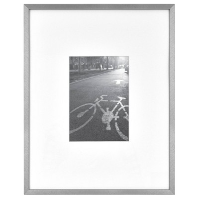 """11"""" x 14"""" Matted For 5"""" x 7"""" Thin Gallery Frame Silver - Project 62™"""