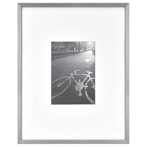 "11"" x 14"" Matted For 5"" x 7"" Photo Thin Gallery Frame Silver - Project 62™ - image 1 of 4"