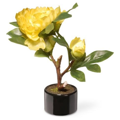 "9.5"" Yellow Peony Flower - National Tree Company - image 1 of 4"