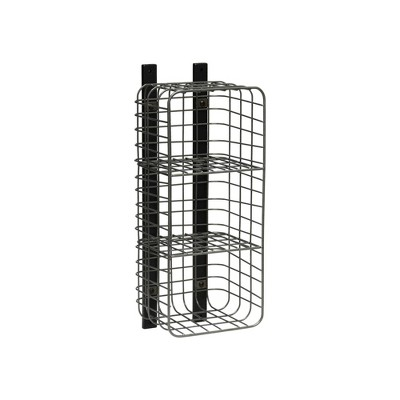 Entryway Vertical 3 Cube Wire Shelf Pewter - Threshold™