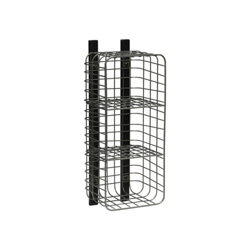 Entryway Vertical 3 Cube Wire Shelf Pewter - Threshold™ - image 1 of 1
