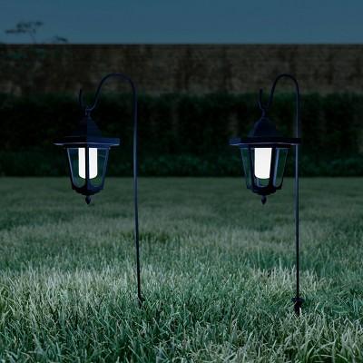 2pk 26  Outdoor LED Hanging Solar Coach Lights - Pure Garden