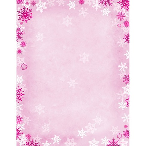 80pk foil snowflake stationery kits pink great papers target