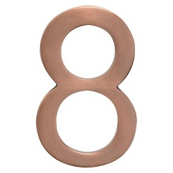 "Architectural Mailboxes 4"" House Numbers - Antique Copper"