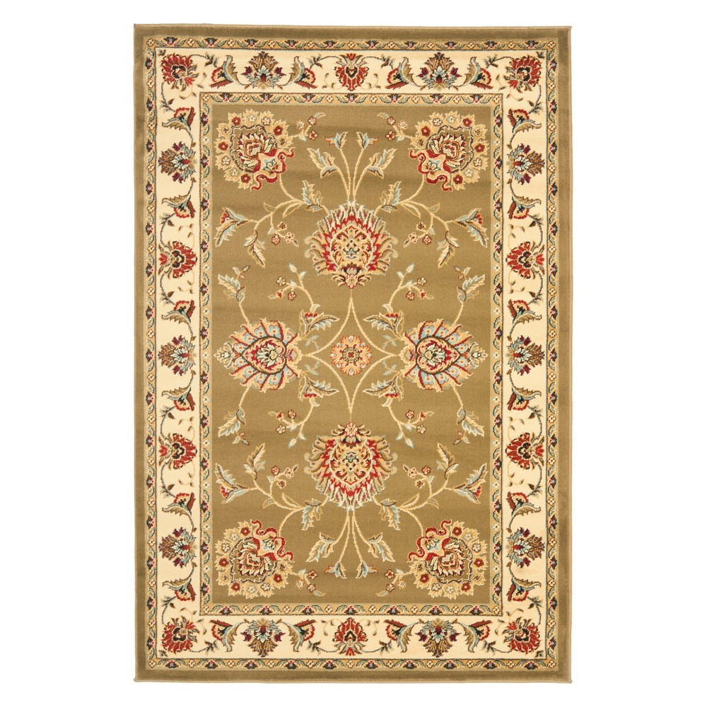 4'X6' Floral Loomed Area Rug Green/Ivory - Safavieh