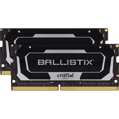 Crucial Ballistix 64GB DDR4 SDRAM Memory Module - For Notebook - 64 GB (2 x 32 GB) - DDR4-3200/PC4-25600 DDR4 SDRAM - CL16 - 1.35 V - Unbuffered
